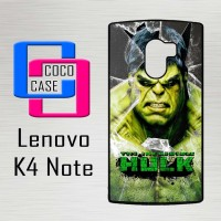Casing Hp Lenovo K4 Note Hulk smash glass X4654