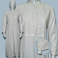 Jual (01) Gamis Putih | Baju Muslim | Long Dress | Busana Muslimah Murah