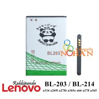 Baterai Lenovo A369i A316 A369 BL203 BL214 Double IC Protection