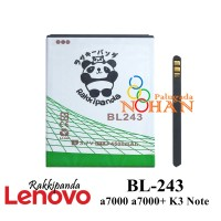 Baterai Lenovo A7000 K3 Note A7000 Plus BL243 Double IC Protection