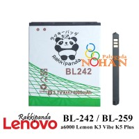 Baterai Lenovo A6010 A6600 Plus BL242 BL259 Double IC Protection