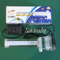 Jual Lampu Jepit Aquarium / Akuarium Hai Long LED Crystal CL 5W 5 Watt CL5W Murah