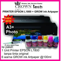 EPSON L1800 printer A3 photo + GROW INK ART PAPER