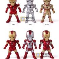 Action figure Iron Man Original Marvel chibi mini set bukan kids logic