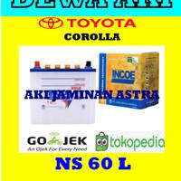 Aki TOYOTA COROLLA Incoe Gold Astra NS60L OR 55B24L AKI BASAH NS 60 L
