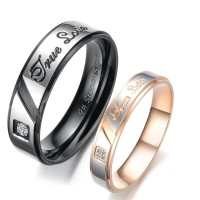 cincin couple murah Titanium asli-free ukir nama