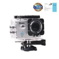 "Bcare BCam X-3 Action Camera 16 MP SonySensor 4K - layar 2""- Silver"
