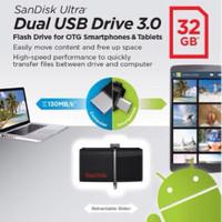 Jual SANDISK FLASHDISK 130MB/S ULTRA DUAL DRIVE USB 3.0 32GB / USB OTG Murah