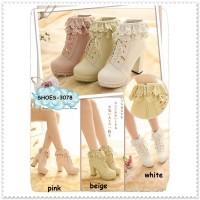 harga Ankle High Heels Boots Boot Cewek Wanita Korea Sepatu Import Cosplay Tokopedia.com