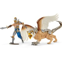 Schleich Eldrador Warrior with griffin
