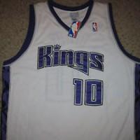 NWT Sacramento Kings Mike Bibby NBA Basketball Jersey Sewn 52 Authenti
