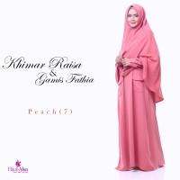 Gamis Lembut Jual Gamis Hijab Alsa Gamis Fathia Peach Size M, L