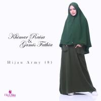 Gamis Lembut Jual Gamis Hijab Alsa Gamis Fathia Hijau Army Size M, L