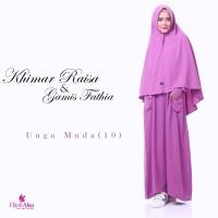 Gamis Lembut Jual Gamis Hijab Alsa Gamis Fathia Ungu Muda Size XL
