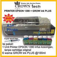 Epson 1390 printer A3 photo,modifikasi GROW INK PLUS tabung premium
