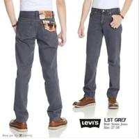 celana jeans levis 505. reguler/standar/besic warna abu-abu untuk pria