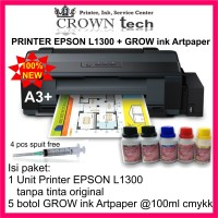 Epson L1300 printer A3 + GROW INK Artpaper
