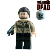 WALKING DEAD LEGO MINI FIGURE RICK GRIMES