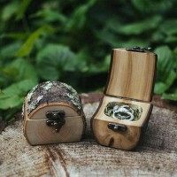 Jual ring box kotak cincin wedding rustic vintage lamaran nikah engagement Murah