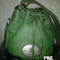Fossil Maddox Dw Green Leather Bag - Tas Wanita Original VA101