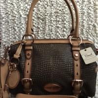 Fossil Maddox Snake Skin Satchel Leather Bag Tas Wanita Original VA106