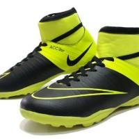 sepatu futsal nike acc high original premium black green 39-44 import