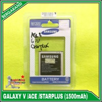 Baterai Samsung Galaxy Ace 3,V, Star Plus ORIGINAL SEIN 100% 1500mAh