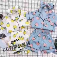 Baju Tidur Anak Perempuan Import Branded Piyama Apple Blue Yellow Girl