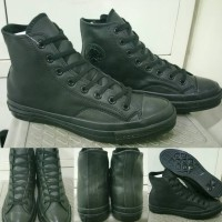 Sepatu Converse Allstar 70s Seventies Leather High Fullblack Hitam