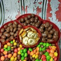 Coklat Delfi Silverqueen Tray Bunga Sekat 6 - T6
