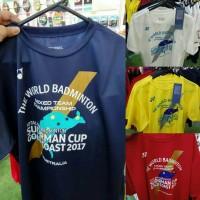Kaos Badminton Bulutangkis Sudirman Cup 2017 Gold Coast Original Yonex