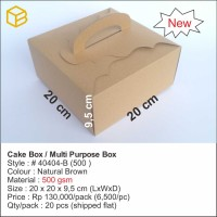 Dus Kue, Box Kue, Cake Box, Gift Box, Kado, Souvenir # 40404-B