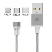 Jual WSKEN 3 in 1 Kabel Charger Magnetic Android iPhone OLB1902 Murah