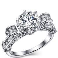 harga Cincin Lapis Emas Putih Berlian Wanita Imitasi Batu Solitaire - Br122 Tokopedia.com