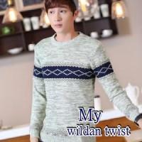 Jual Sweater Wildan Twist Grey-Blue/Kualitas Premium/Harga Murah/Kualitas  Murah