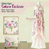 Jual mukena bali jumbo sakura exclusive peach c14 Murah
