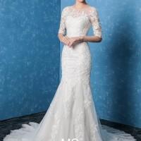 1706020 Putih Mermaid Ekor Gaun Pengantin Wedding Gown Wedding Dress