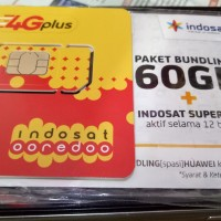 harga Perdana Internet Indosat 60 Gb 1thn (5gb 1bln) Tokopedia.com