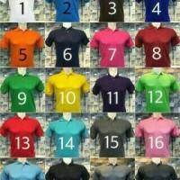 koas polo shirt polos,kaos kerah lis big size XXXL banyak warna