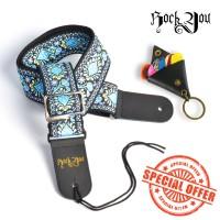 Strap Gitar Impor Bonus Pick dan Key Holder Tali Gitar / Sabuk Gitar B