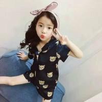 Baju Tidur Anak Perempuan Import Branded Piyama Teddy Bear Cute Girl