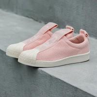 Adidas Superstar BW35 Slip On 'Ice PinkFtwr WhiteChalk'