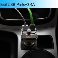 harga Bt20 Bluetooth Car Dual Usb Charger Mp3 Wma Audio Transmitter Tokopedia.com