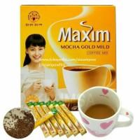 Korean Maxim Mocha Gold Mild Coffee Mix Instant Kopi Moka Kore