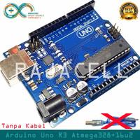 Arduino Uno R3 Atmega328P DIP + 16U2 like Original Tanpa Kabel Data