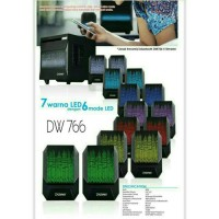 Jual Speaker Aktif LED DAZUMBA DW766 - Bluetooth, USB, SD, Aux In Murah
