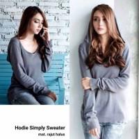Hodie simple grey fj Jaket wanita sweater rajut murah