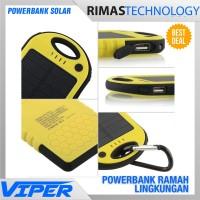 Jual PROMO ! Viper Solar Waterproof Power Bank 5000mAh Powerbank Matahari Murah