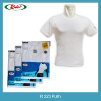 Jual T-Shirt / Kaos Dalam / Oblong RIDER PUTIH - Style R223B Murah