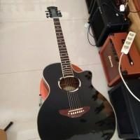 Jual Gitar Akustik Marfill APX Black Original Banyak Bonusnya Murah